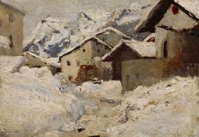 Giovanni Giacometti. Stump in winter
