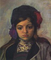 Анри Лебаск. Маленький ребенок в тюрбане