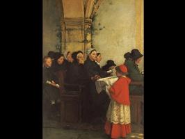 Francois Bonnen. Ave Maria interior of a convent