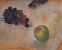 Kuzma Sergeevich Petrov-Vodkin. Grapes and apples