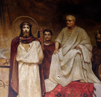 The Court Of Pilate. Fragment of painting of the Vladimir Cathedral in Kiev
