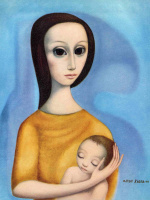Маргарет Кин. Мать с ребенком
