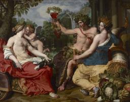 Abraham Jansens. Ceres, Bacchus and Venus