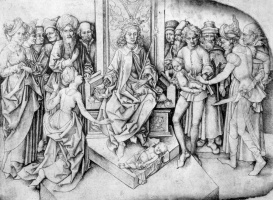 Martin Schongauer. The Judgement Of Solomon
