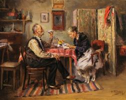 Vladimir Egorovich Makovsky. Morning tea
