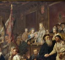 Ян Матейко. Люблинская уния. Фрагмент III