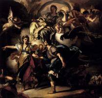 Франческо Солимена. Королевская охота  Дидона и Энея