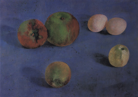 Kuzma Sergeevich Petrov-Vodkin. Still life. Apples and eggs
