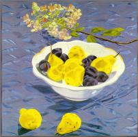 Гарриет Шорр. Джованна-голубой желтый цвет