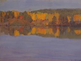 Ээро Николаи Ярнефельт. Осенний пейзаж с рекой
