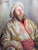 Иван Горюшкин-Сорокопудов. Портрет мужчины в восточном костюме. 1895