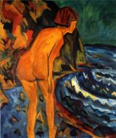 Эрих Хеккель. Вечернее купание