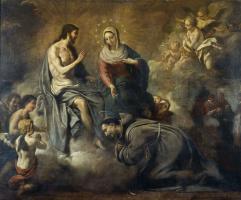 Антони Виладомат-и-Манальт. Иисус даёт индульгенцию св. Франциску