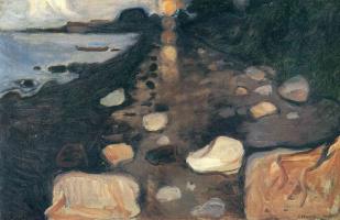 Edward Munch. Moonlight on the shore