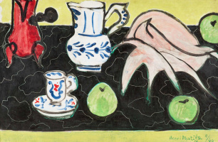 Henri Matisse. Still life. Sink on black marble