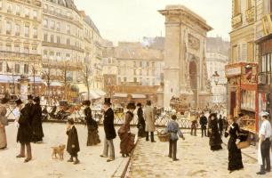 Жан Беро. Бульвар Сен-Дени в Париже