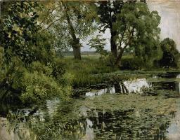 Исаак Ильич Левитан. Заросший пруд