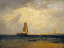 Joseph Mallord William Turner. Fishing on the Blythe Sands when the tide began