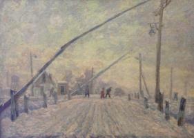 Vladimir (Voldemar) Alexandrovich Eyfert. Railway crossing
