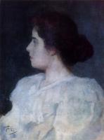 Леонид Осипович Пастернак. Портрет неизвестной . 1893