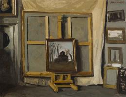 Heliy Mikhailovich Korzhev. In the Studio (sketch)