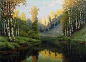 Ефим Ефимович Волков. Лесное озеро