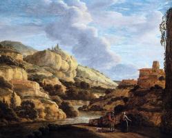 Матье Дубус. Горный пейзаж
