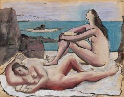 Пабло Пикассо. Три купальщицы