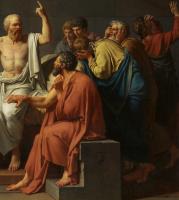 Жак-Луи Давид. Смерть Сократа. Фрагмент III