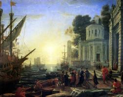 Желле Клод. Прибытие Клеопатры в Тарс