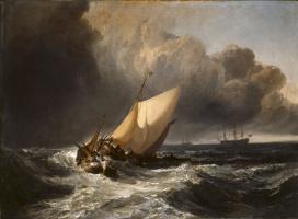 Джозеф Мэллорд Уильям Тёрнер. Голландские рыболовные лодки во время шторма