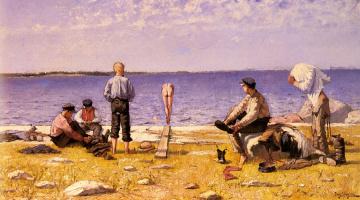 Евгений Янссон. Работа на пляже