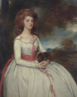 George Romney. Portrait of Mrs. Moody, the second wife of Mr. Samuel Moody