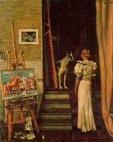 Джорджо де Кирико. Женщина и собака