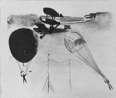Александр Александрович Дейнека. Рисунок для детской книжки «В облаках»