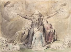 Уильям Блейк. Книга Иова. Иов и его дочери