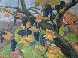 Oleg Alekseevich Dmitriev. Autumn. Grapes