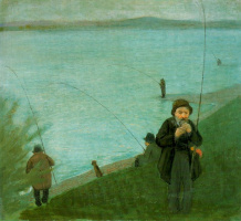 Август Маке. Рыбаки