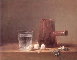 Жан Батист Симеон Шарден. Стакан с водой и кувшин
