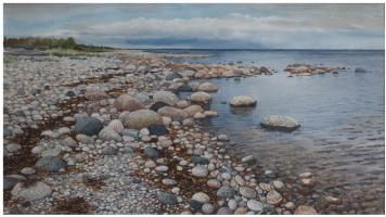 Sergey Alekseevich Makarov. The white sea. O Great Gigai. Rocky beach