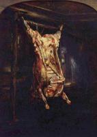 Рембрандт Харменс ван Рейн. Разделанная бычья туша