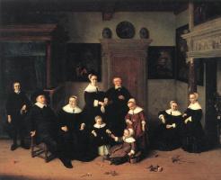 Адриан ван Остаде. Семейный портрет