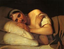 Alexey Gavrilovich Venetsianov. Sleeping girl