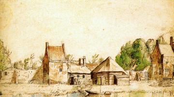 Антони Ватерлоо. Вид на картезианский монастырь в Амстердаме