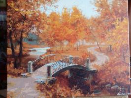 Vasilina Antonovna Chubenko. Everybody's familiar autumn picture