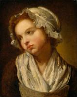 Жан-Батист Грёз. Головка девушки в чепчике