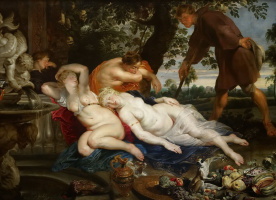 Peter Paul Rubens. Cimon and Iphigenia