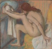 Edgar Degas. Woman wiping his feet