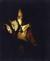 Жорж де Латур. Мальчик с лампой