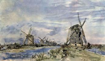 Ян Бартолд Йонгкинд. Ветряные мельницы